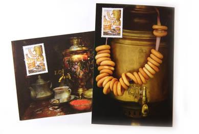Набор «Чаепитие» (2 открытки+ 2 марки)